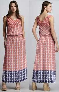 DVF silk printed maxi dress size 4