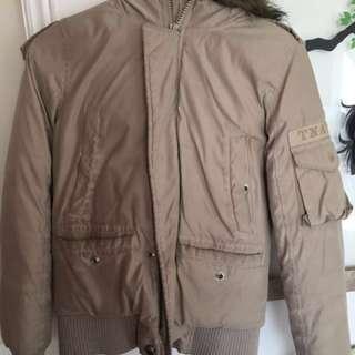 TNA beige winter jacket