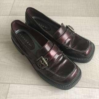 Vintage Burgundy Loafers