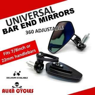 Bar End Mirrors Universal CNC (Limited stocks)