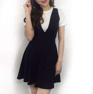 Korean Jumper Dress with Inner