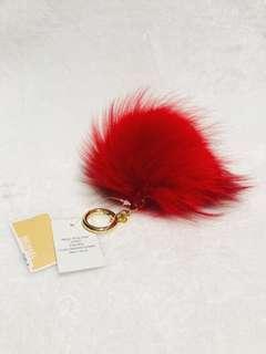 Michael Kors Large Fur Pom Pom Keyring Charm