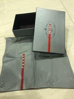 Prada shoe box with dustbag