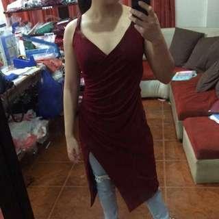 Dark Red Kylie Dress