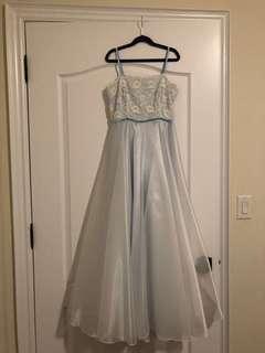 Baby Blue Prom Dress (xs, 00)