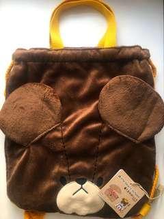 台灣 The Bears' School Jackie 小熊學校 傑琪造型 手挽 背包 後背束口背包 包郵