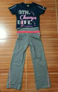 6-8 girls athletic outfit