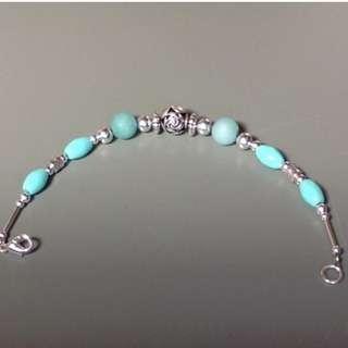 Handmade Teal Bracelet