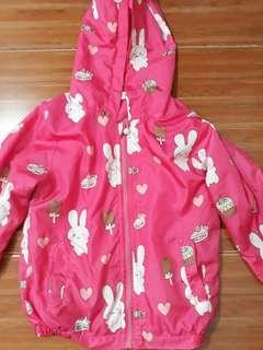 6-8 girls pink hooded jacket