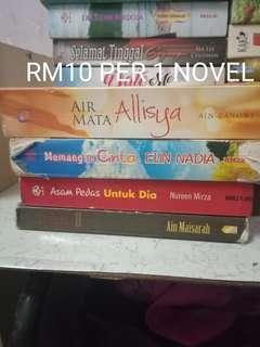 Novel terpakai untuk dijual
