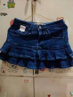 Denim Skirt rimpel