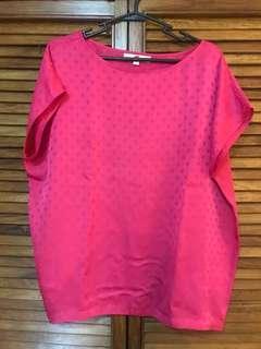 Ann Taylor Loft fuschia blouse