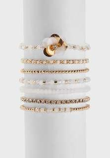 🈹 ALDO Gwelidda Bracelet 白金色手鐲 7 pieces