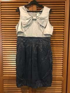Gray and blue dress L - XL