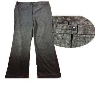TALBOTS Windsor Wide-Leg Pants Herringbone fabric