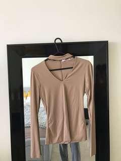 Supre XS Nude top with neckline design