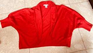 Maxmara Red Cardigan