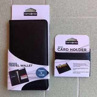 SAMSONITE - Travel Passport Wallet and Card Holder Set