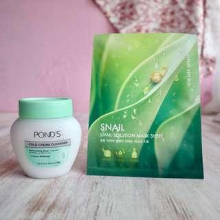 Pond Cold Cream get Sheet Mask