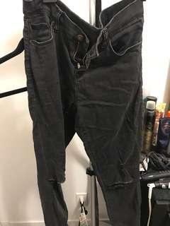 Topshop Leigh Jeans Size 28