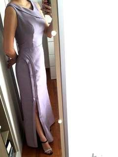 Sweet Lilac Dinner Cocktail Formal Gown Dress