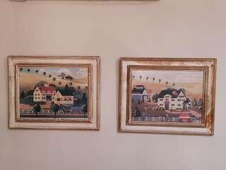 "🚚 ""Antique"" wood painting set"