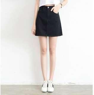 PO#274 A line denim skirt