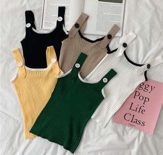 PO#275 Korean ulzzang sling vest top