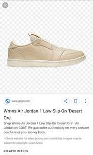 promo code a021f 1fa59 Womens Air Jordan 1 Retro Low Slip  Desert Ore