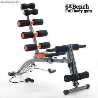 GYM AB Six Pack Care exercise chair bench fitness equipment (Black Color)
