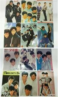 🚚 日本早期偶像團體傑尼斯少年隊寫真照12張(東山紀之、植草克秀)