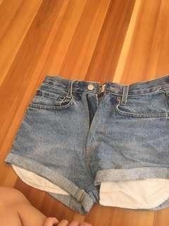 Levi shorts size 8