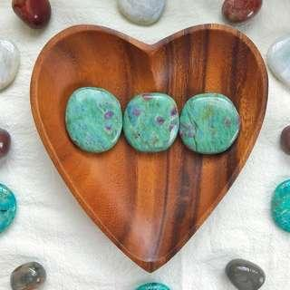 Ruby in Fuchsite Palm Stones