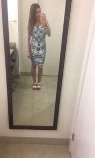 ZOO CLOTHING BLUE AND WHITE DRESS