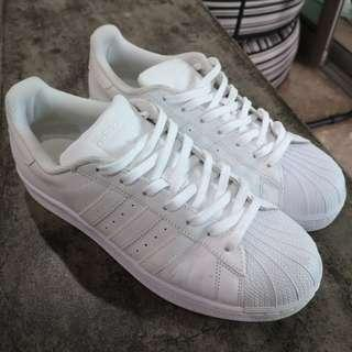 Adidas Superstar All White US9