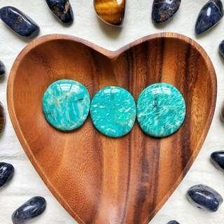 Amazonite Palm Stones