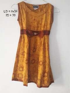 Dress Batik Anak gold