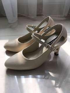 Adorable Projects Decimal Heels Cream