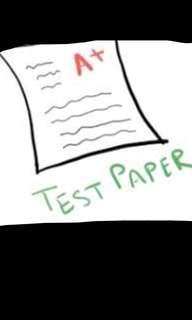 🚚 2018 Primary school test paper (soft copy p1-p6)