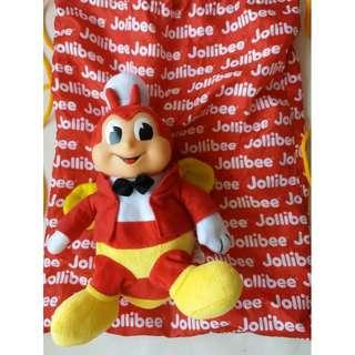 Jollibee Collectibles Draw String Bag with Stuffed Toys