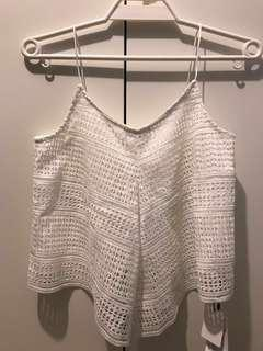Brand new Moussy White Lace Tank Top