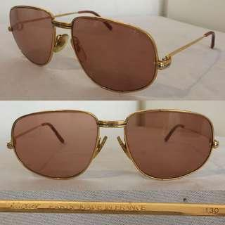 Vintage Cartier Sunglasses Louis Romance 14k Gold-Plated 56[]16 Made in France