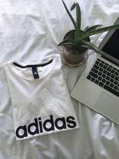 adidas white shirt