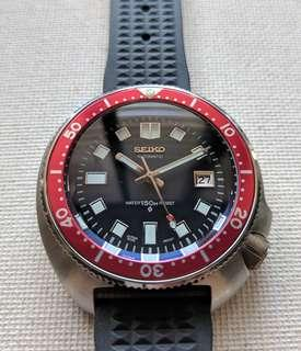Seiko 6105 8110 Automatic Homage with Burgundy Insert