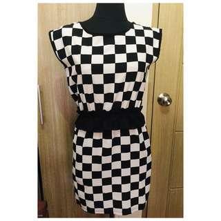 B&W Chekerd Dress