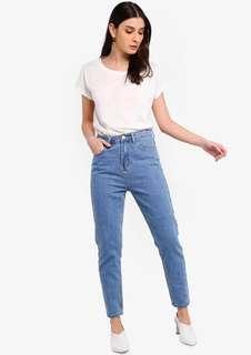 Zalora Mom Cropped Jeans