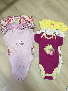 🚚 [ RESERVED] Baby Girl Rompers 0-2 Months