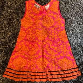 Blueberri Orange Girls Dress