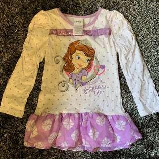 Disney Princess Sofia Purple Top Girls Dress