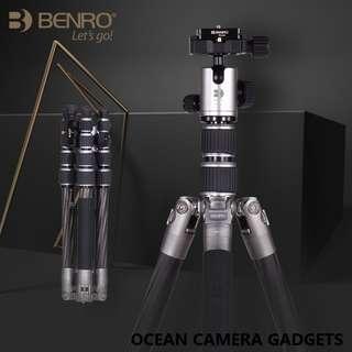 Benro Carbon Fiber Tripod MC09 SLR Mirrorless Camera Travel Portable Tripod set